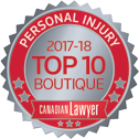 Personal Injury Canadian Lawyer- 2017-2018 Top 10 Boutique