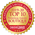 Personal Injury Canadian Lawyer- 2019-2020 Top 10 Boutique