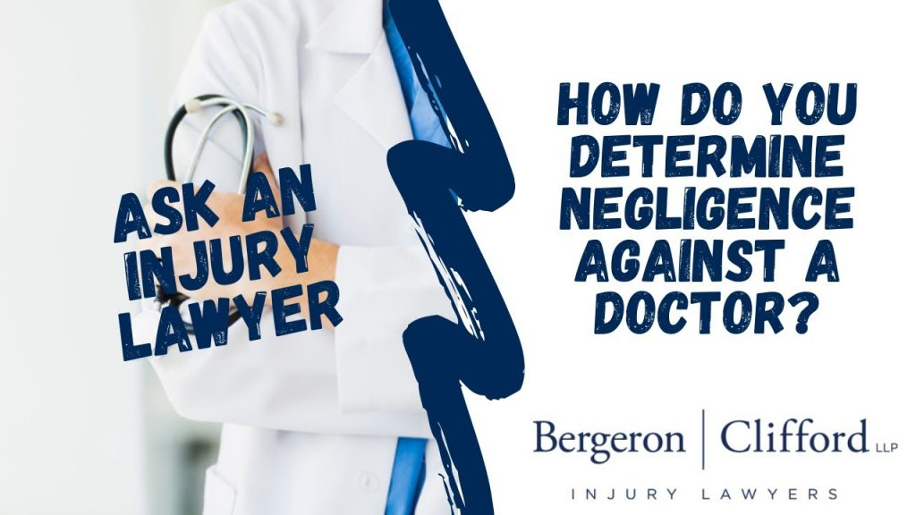 How to determine negligence against a doctor cover