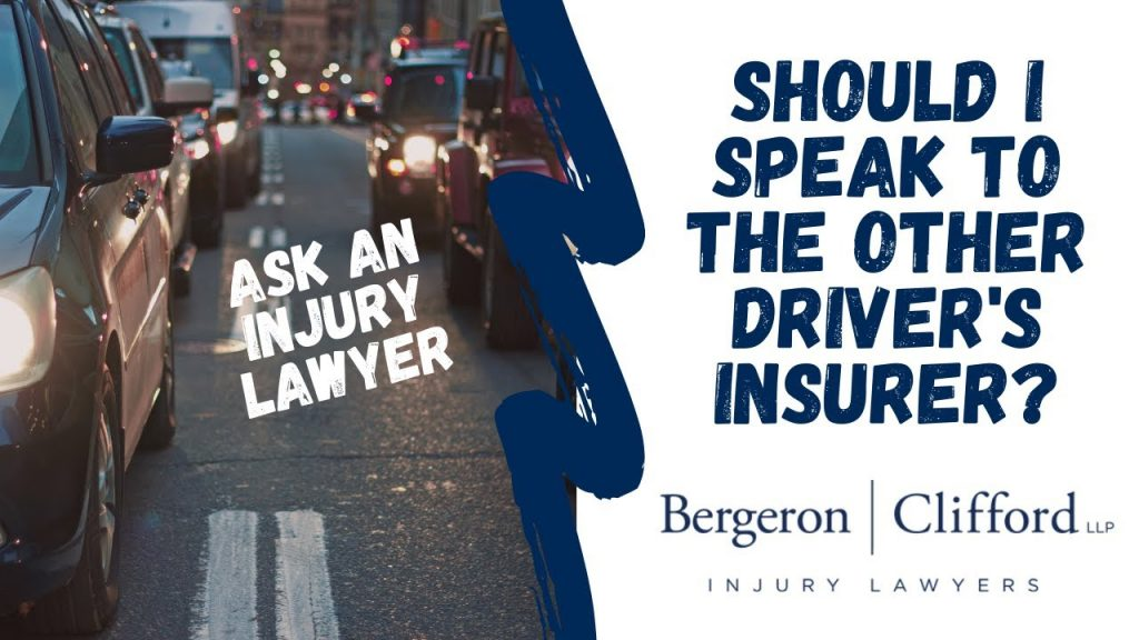 Should I speak to the other driver's insurer cover