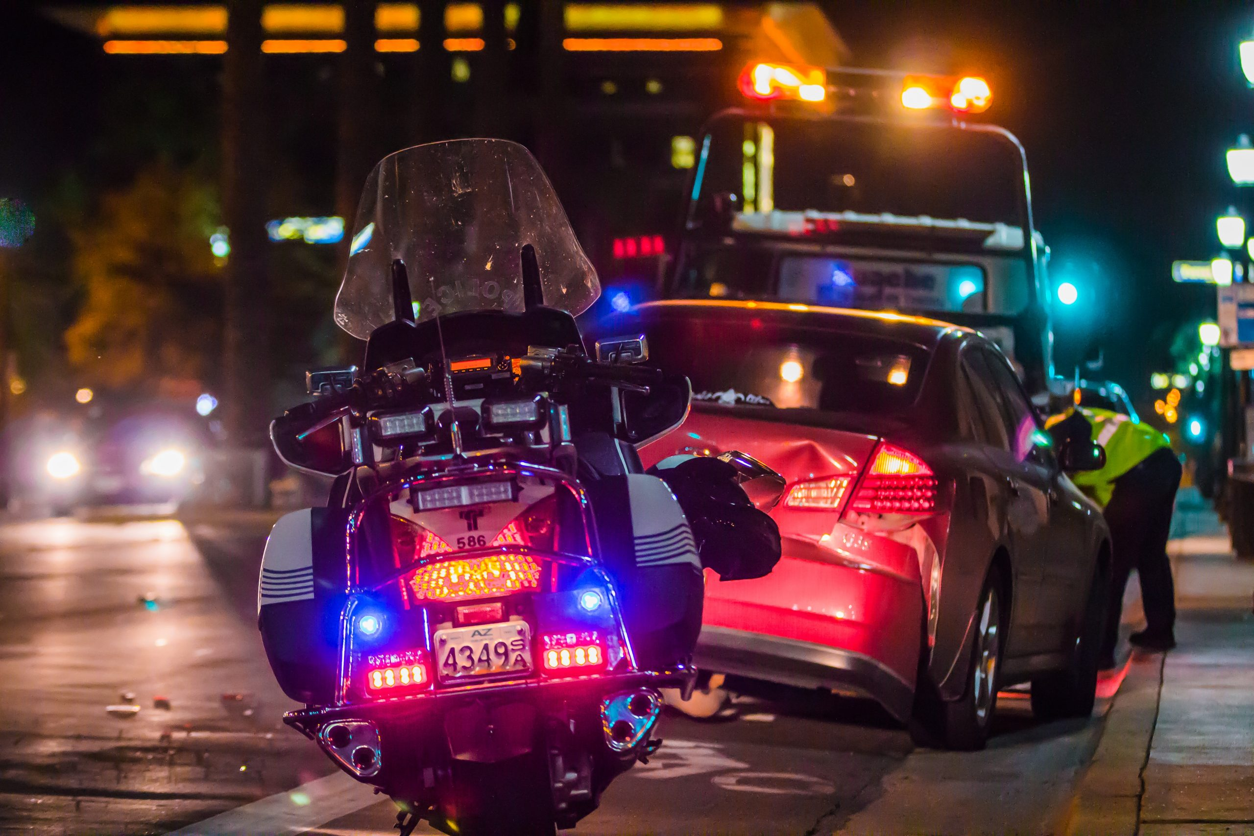 Police in accident scene