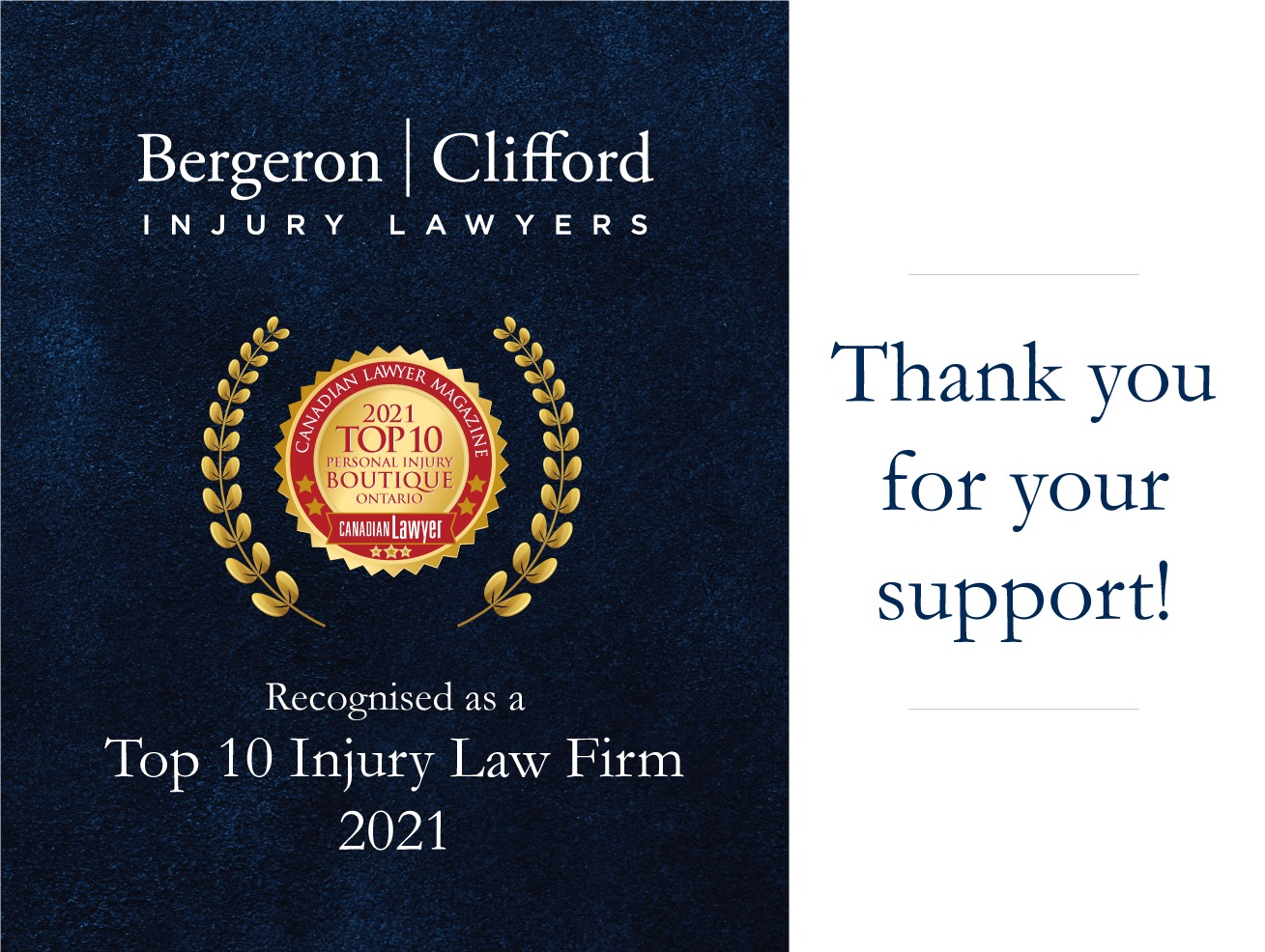 Top 10 Personal Injury Law Firm_Thank you for your support